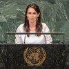 新西兰总理阿德恩在联合国大会第73届届会议一般辩论中发言。
