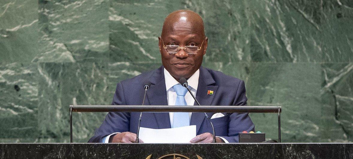 O atual presidente da Guiné-Bissau, José Mário Vaz.