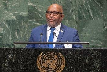 Rais wa Muungano wa visiwa vya Comoro Azali assoumani akuhutubia wakati wa kikao cha 73 cha Baaraza Kuu la Umoja wa Mataifa jijini New York mwaka 2018.