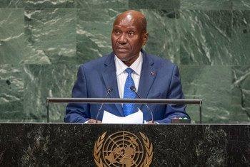 Le Vice-Président de la République de Côte d'Ivoire, Daniel Kablan Duncan, prend la parole à la soixante-treizième session de l'Assemblée générale des Nations Unies.