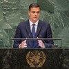 Pedro Sánchez, presidente del Gobierno de España, durante su intervención en el 73 periodo de sesiones de la Asamblea General de la ONU.