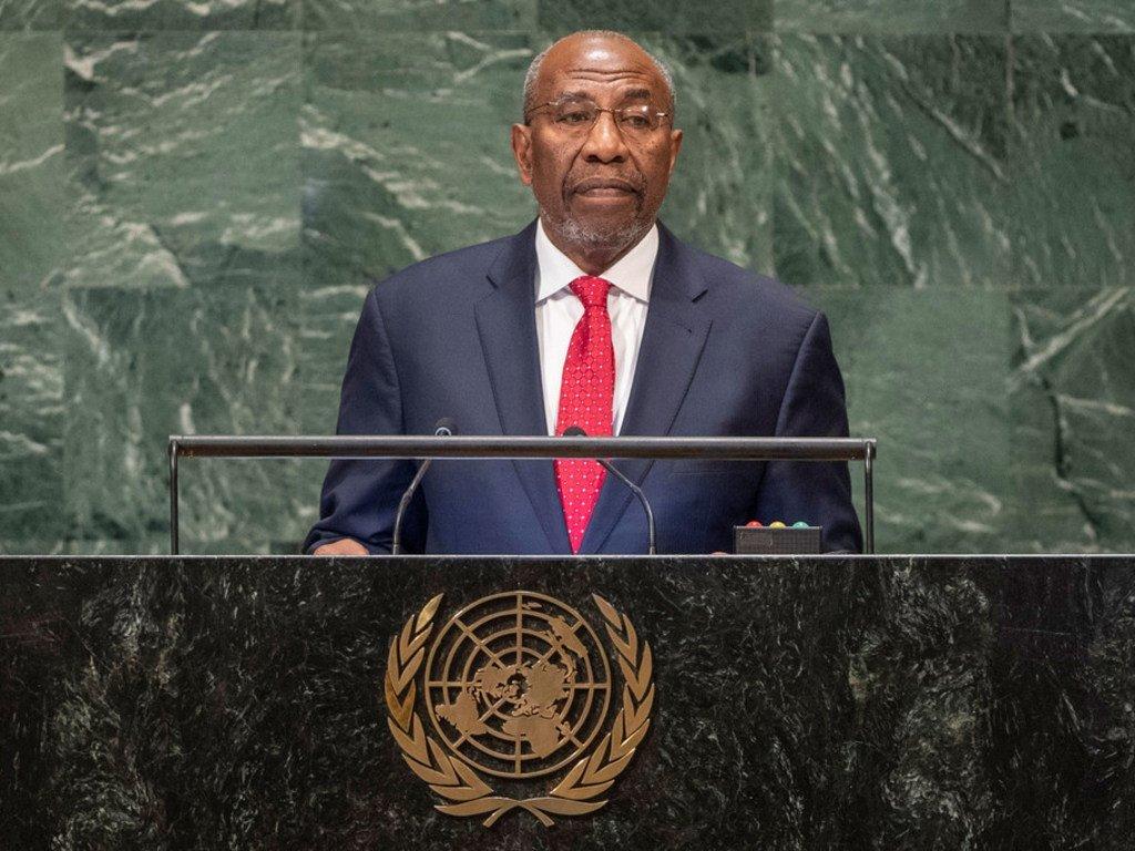 Waziri Mkuu wa Uganda Ruhakana Rugunda akihutubia Baraza Kuu la UN mkutano wa 73