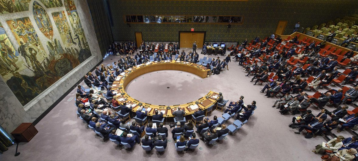 The UN Security Council debates the issue of nuclear non-proliferation in the Democratic People's Republic of Korea.