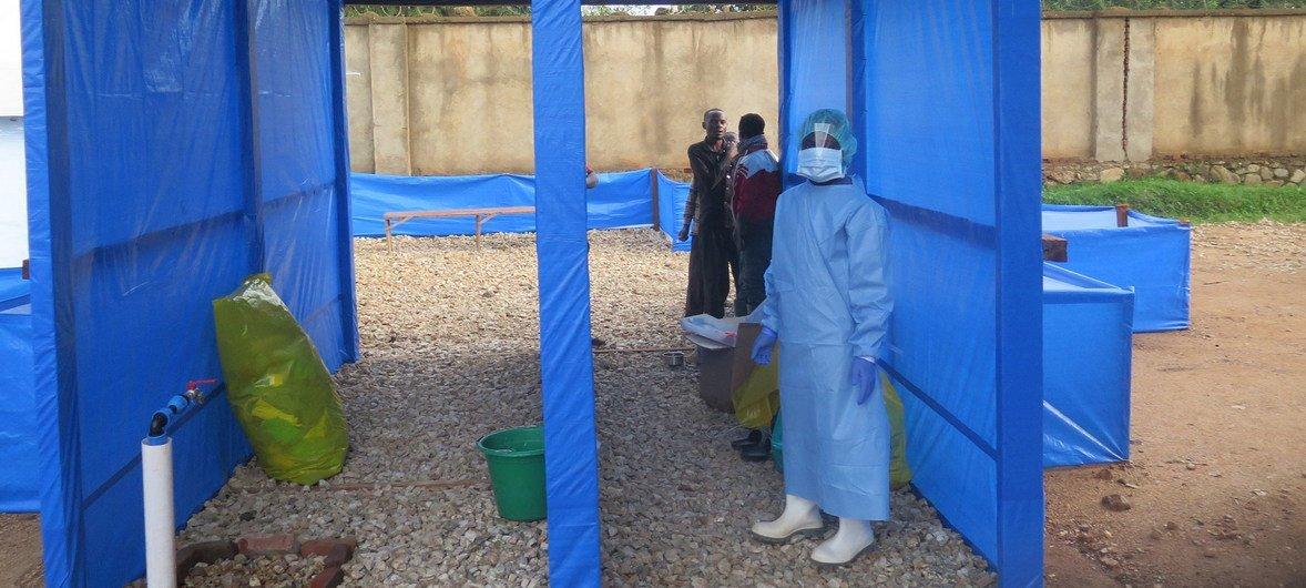 Centre de traitement du virus Ebola à l'hôpital de Beni, au Nord-Kivu, en République démocratique du Congo.