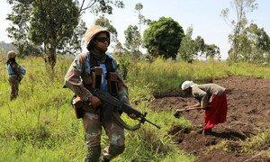 Female engagement patrol conducted from Mavivi to Muzambayi in Beni by female personnel of South African Contingent of COB Mavivi, MONUSCO on 07 March 2018.