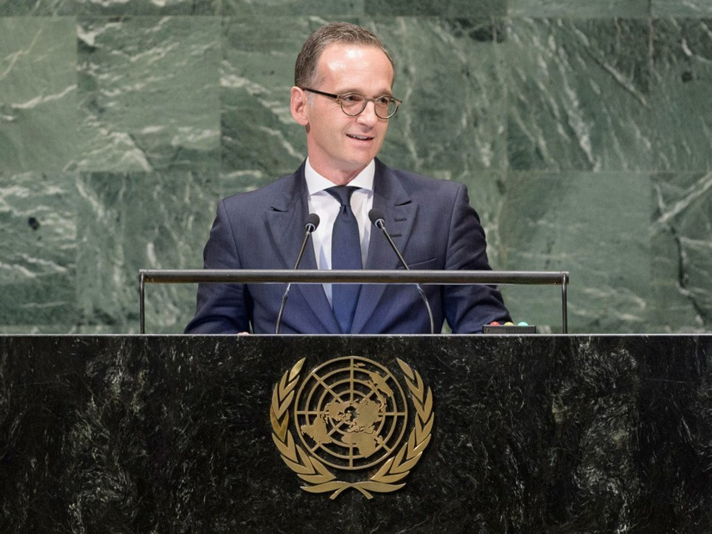Foreign Minister Heiko Mass of the Federal Republic of Germany addresses the seventy-third session of the United Nations General Assembly.