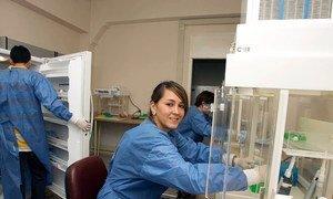 Asistentes de laboratorio sobre el Virus del Papiloma Humano y el Instituto de investigación sobre el Cáncer en Colombia.