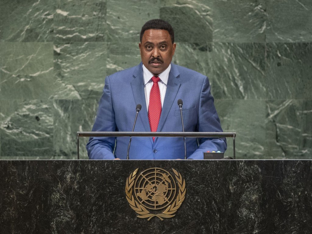 Workineh Gebeyehu Negewo, Minister for Foreign Affairs of Ethiopia, addresses the general debate of the General Assembly's seventy-third session.