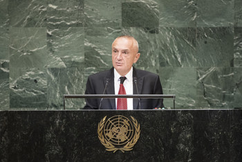 Ilir Meta President of Albania addresses the general debate of the General Assembly's seventy-third session.