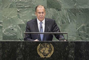 俄罗斯外交部长拉夫罗夫在联大第73届会议一般性辩论上发言。