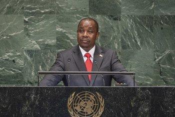 Ezéchiel Nibigira, waziri wa mambo ya nje na ushirikiano wa kimataifa wa Burundi akihutubia mjadala mkuu wa Baraza Kuu la Umoja wa Mataifa.
