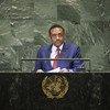Mahamat Zene Cherif, Ministre des affaires étrangères, de l'intégration africaine et de la coopération internationale de la République du Tchad, prend la parole à la soixante-treizième session de l'Assemblée générale des Nations Unies.
