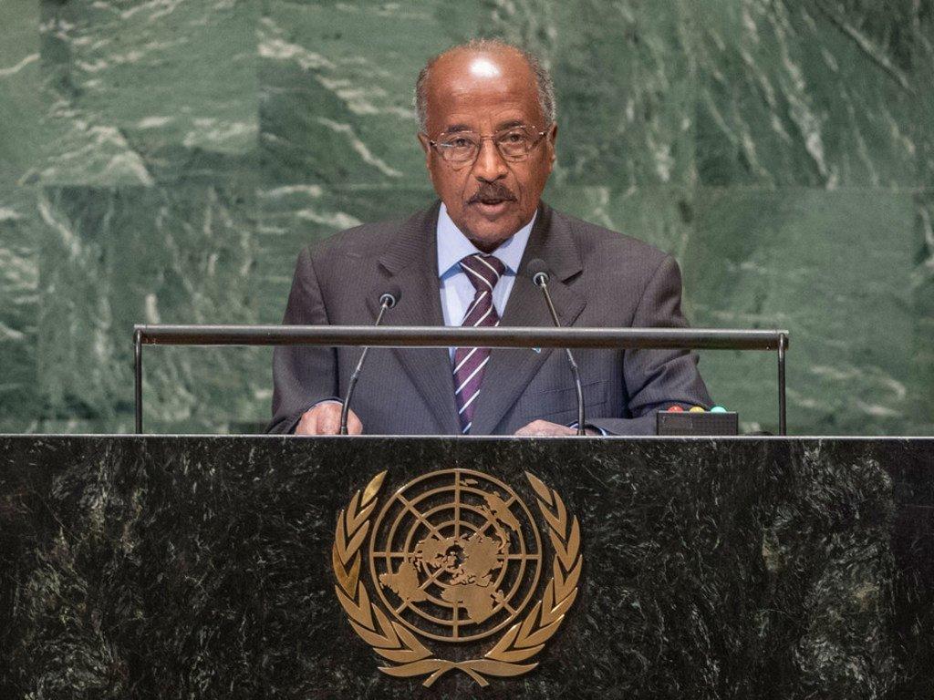 厄立特里亚外长默罕默德(Osman Mohammed)在联大第73届会议一般性辩论上发言。