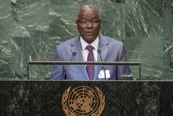 Foreign Minister Kalla Ankourao the Republic of Niger addresses the seventy-third session of the United Nations General Assembly.
