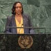 Foreign Minister Francine Baron of the Commonwealth of Dominica addresses the seventy-third session of the United Nations General Assembly.