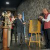 Secretary-General António Guterres along with Yuri Afanasiev UN Resident Coordinator and UNDP Representative in India and UNICEF Executive Director  Henrietta Fore at the inauguration of the ONE UN House in New Delhi.