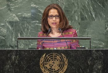 Maria Helena Lopes de Jesus Pires, Chair of Delegation and Permanent Representative of the Democratic Republic of Timor-Leste to the UN, addresses the seventy-third session of the United Nations General Assembly.