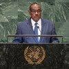 Waziri wa mambo ya nje wa Sudan Eldirdiri Mohamed akihutubia mjadala mkuu wa Baraza Kuu la Umoja wa Mataifa.