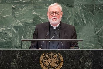 Archbishop Paul Richard Gallagher, Secretary for Relations with States of the Holy See, addresses the seventy-third session of the United Nations General Assembly.