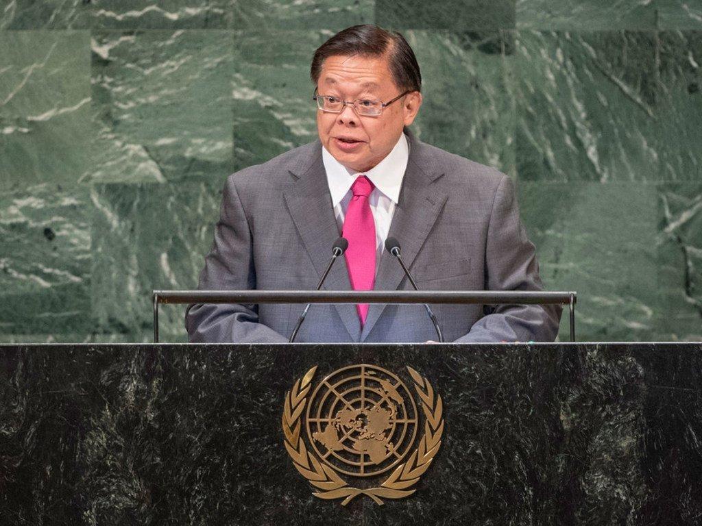 泰国外交部副部长维拉沙蒂在联大第73届会议一般性辩论中发言。
