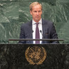 瑞典常驻联合国代表斯科格在联大第73届会议一般性辩论上发言。