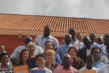 Participantes de um atelier sobre ODSs na Guiné-Bissau.