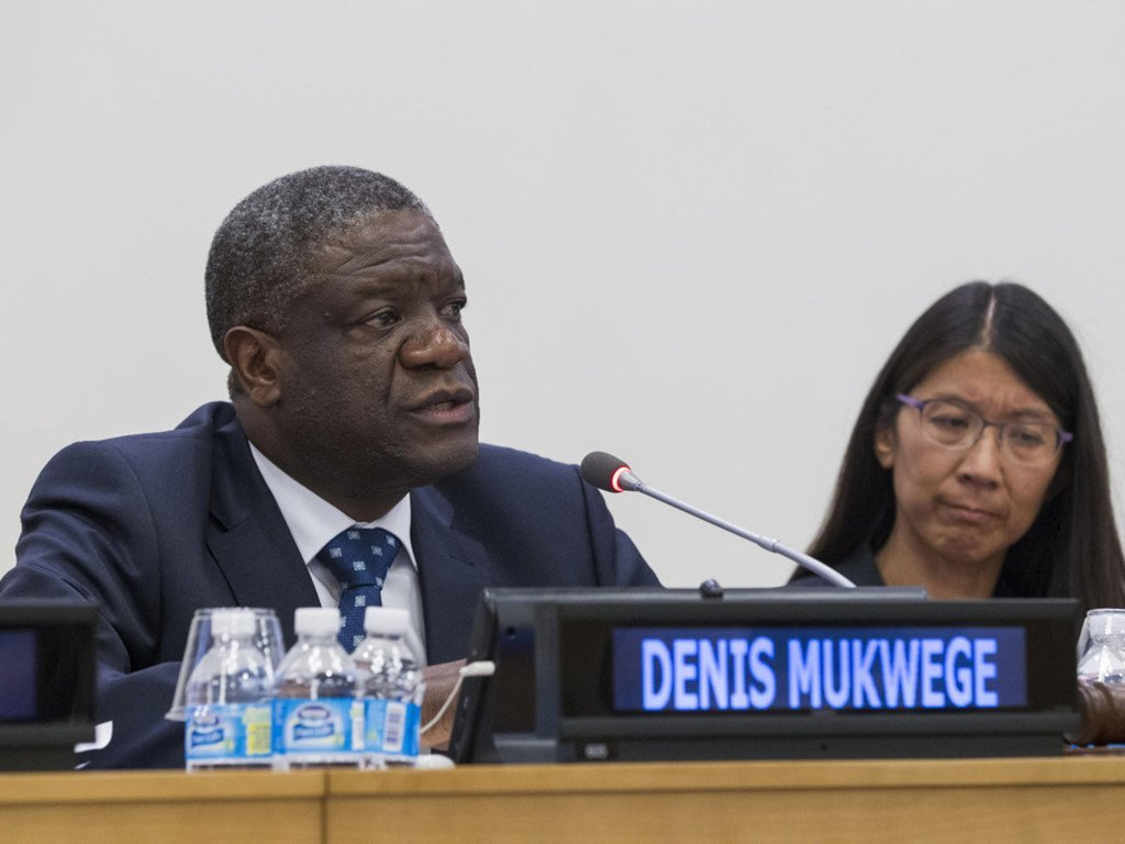 Dr Denis Mukwege, Directeur de l'hôpital de Panzi à Bukavu, en République démocratique du Congo, et Prix Nobel de la Paix 2018.
