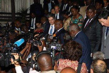 В ходе визита в ДРК члены делегации Совбеза ООН ответили на вопросы журналистов.