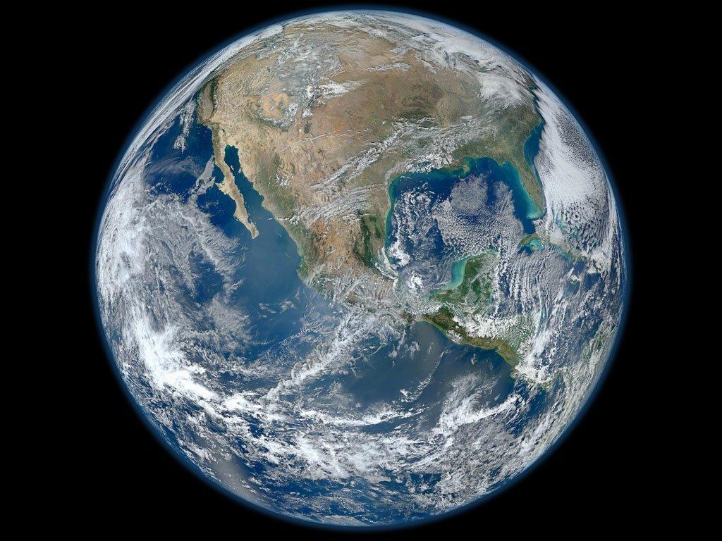 La Terre vue d'un satellite.