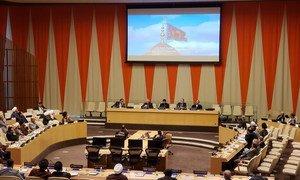 """مؤتمر بعنوان """"استعادة الصدارة الفكرية، لتعزيز العدل في مجتمع مدني."""" هذا المؤتمر عقدته بعثة العراق في الأمم المتحدة في مقر المنظمة في نيويورك"""