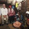 10月7日至9日,联合国主管维持和平行动的副秘书长拉克鲁瓦(左一)与非洲联盟和平与安全专员谢尔吉和联合国妇女署执行主任姆兰博 •努卡(左三)共同对南苏丹进行了访问。