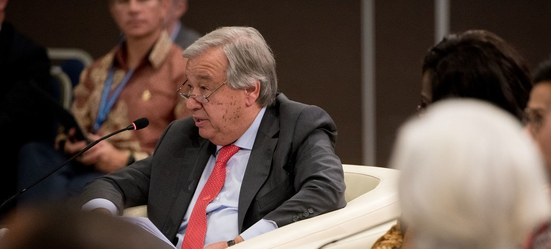 Антониу Гутерриш, выступая на Бали, напомнил, что в экономике и финансах нельзя больше игнорировать климатические  риски