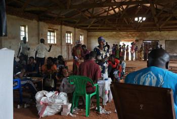Distribution d'aide monétaire par le HCR et ses partenaires, en territoire de Luiza, Kasaï Central. Octobre 2018.