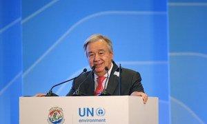 Secretário-geral, António Guterres.