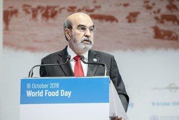 Diretor geral da FAO, José Graziano da Silva, na sede da agência em Roma