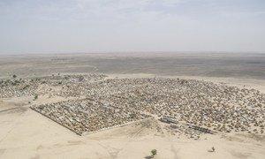 Vista aérea da cidade de Rann, na Nigéria.
