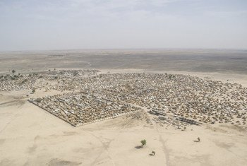 尼日利亚博尔诺州兰恩镇的鸟瞰图。(2018年3月23日)