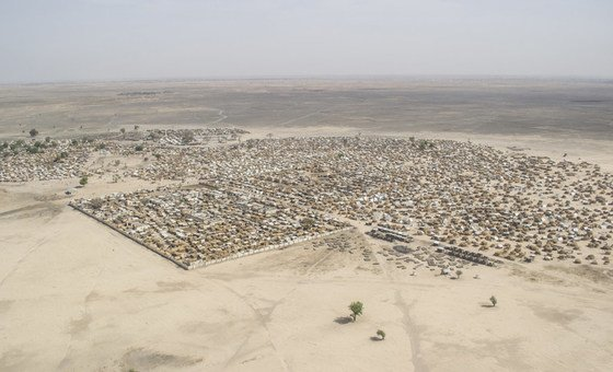 Aerial view of the town of Rann, Borno State, Nigeria. 23 March 2018.