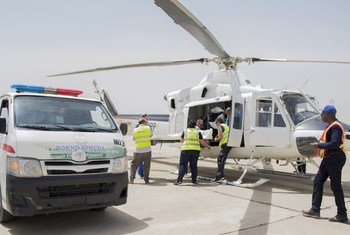 Arrival of the bodies of the three aid workers killed in the 1 March attack in Rann, north-east Nigeria. Maiduguri airport, Borno State. 2 March 2018.