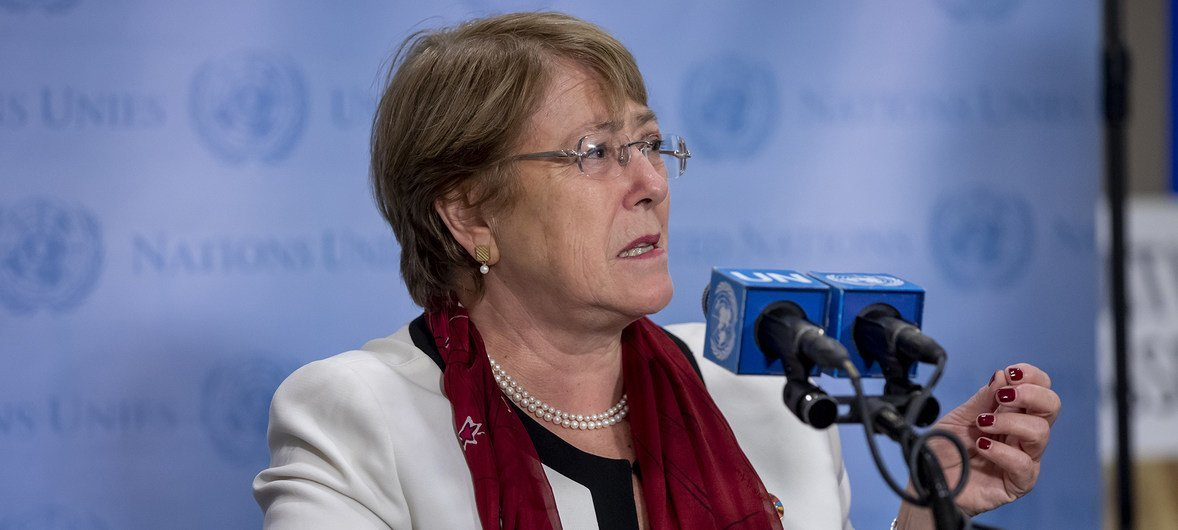 Michelle Bachelet, United Nations High Commissioner for Human Rights (file photo).