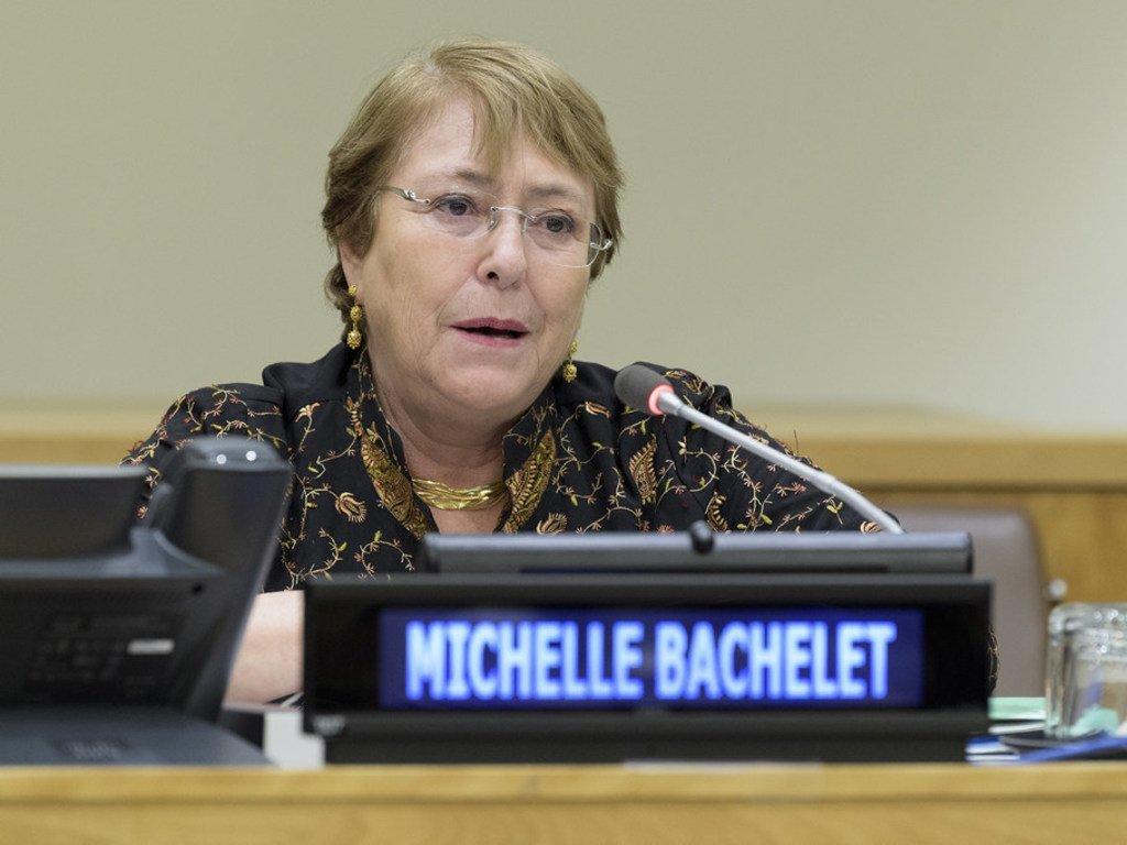 La Haut-Commissaire des Nations Unies aux droits de l'homme, Michelle Bachelet,