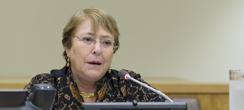 Michelle Bachelet, Alta Comisionada de las Naciones Unidas para los Derechos Humanos.