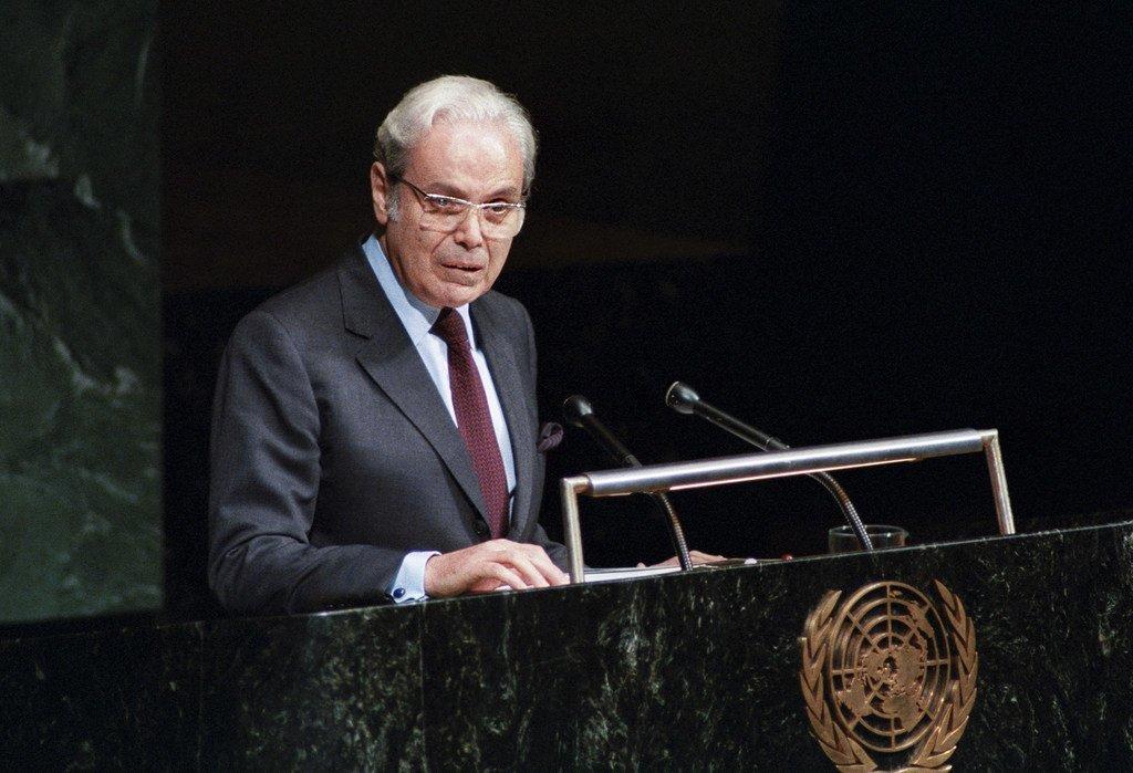 Le Péruvien Javier Pérez de Cuéllar a occupé de 1982 à 1991 le poste de Secrétaire général des Nations Unies (archive)
