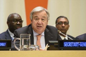 االأمين العام أنطونيو غوتيريش- الأربعاء17 أكتوبر 2018.