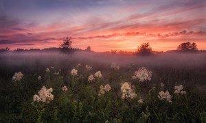 Uma noite de verão em Smolensk, Dorogobuzh, Rússia.