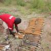 Mabomu yakiandaliwa tayari kwa ajili ya kuteketezwa