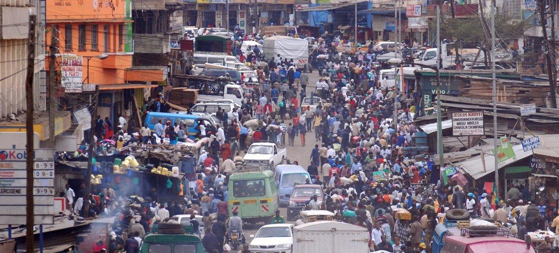 La ciudad de Nairobi, en Kenia.