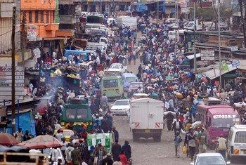 Le centre-ville de Nairobi, la capitale du Kenya.