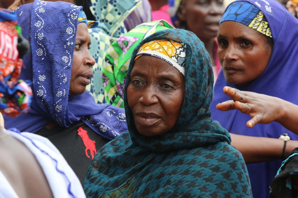中非共和国的妇女庆祝国际妇女节。
