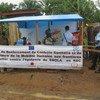 Kituo cha matibabu ya Ebola katika Hospitali mjini Beni, jimboni Kivu ya kaskazini, DRC.
